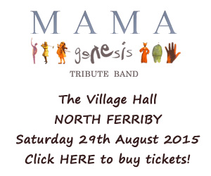 An Evening of Genesis with Mama @ The Village Hall, North Ferriby