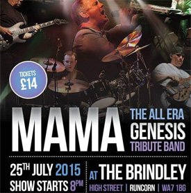 An Evening of Genesis at The Brindley, Runcorn