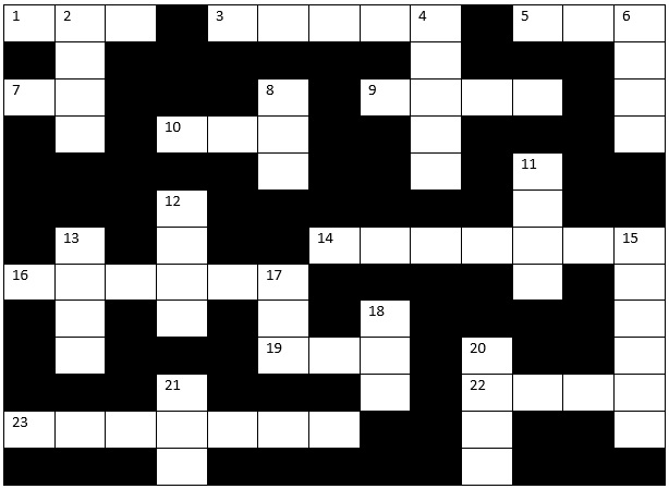 Genesis themed Crossword from Mama