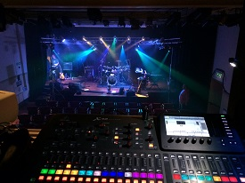 View from the sound desk at Fisher Theatre