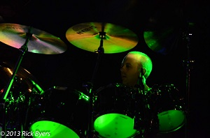 James - drummer with Mama Genesis