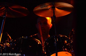 James on drums for Mama Genesis closeup