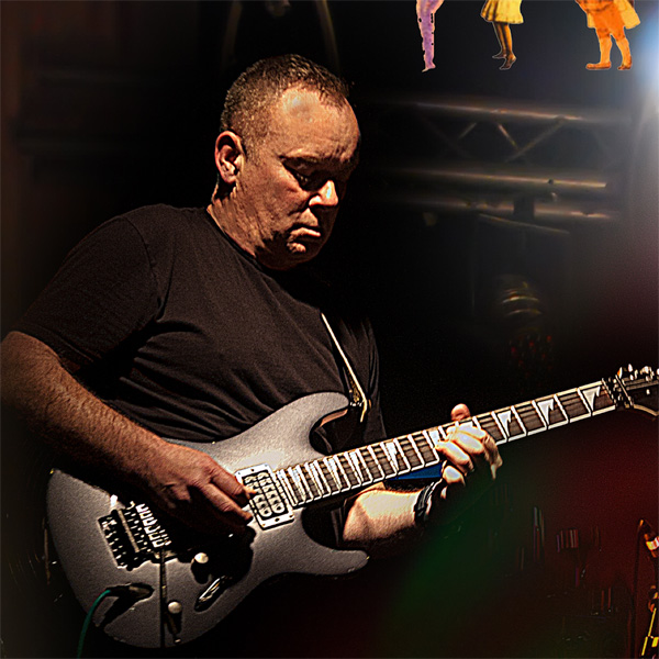 Mark Comish, guitarist with Mama