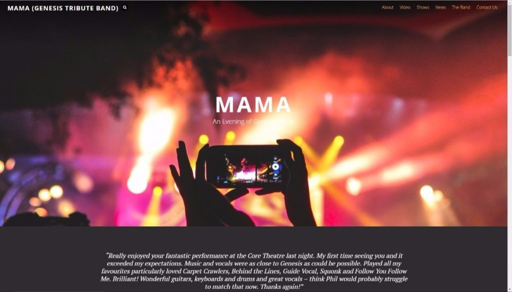 The all new Mama Genesis tribute band website